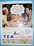 "This fine vintage advertisement for a 1939 ad for Tea which is in very good condition but is slightly yellowed and measures approx. 10"" x 13 1/2"". This vintage tea magazine ad is suitable fo..."