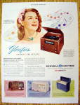 "This fine vintage advertisement from 1946 for General Electric Radio with Jo Stafford is in excellent condition. It measures approx. 10"" x 13 1/2"" and is suitable for framing. This vintage m..."