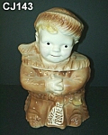 "This wonderful Brush Davy Crockett Cookie Jar is 10 1/4"" high.  Unmarked.  Made in 1956 by Brush.  This cookie jar is not a reproduction but is an original!  It is in excellent condition - having..."