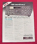 8 page Kenwood Flyer showing various Models of Ham Radios and Equipment.<BR>Contents:<BR><BR>TS-930S Superior dynamic range, auto antenna tuner, QSK, dual NB, 2 VFOs, general coverage receiver.<BR>TS-...