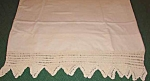Antique Pillowcase W/ Wide White Crochet Trim