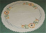 Colorful Arts & Crafts Tablecloth, Round