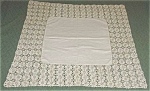 Linen And Crochet Vintage Square Tablecloth