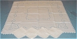 Needle Lace Insertion Tablecloth & Napkins