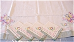 Butterfly Embroidered Tablecloth Napkins