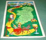 Unused Vintage Irish Linen Towel Irish Coffee