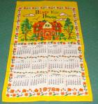 1978 Linen Calendar Towel - Bless This House