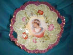Rs Prussia (Es) Lg. Footed Bowl W/portrait