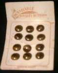 Card Of 12 Small Glass Buttons