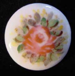 Hand Painted China Stud Button