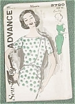 Advance Vintage Dress & Jacket Pattern