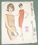 Mccall's Dressmaker Pattern 7115 1963