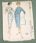 Mccall's Vintage Dress Pattern # 4592 1958