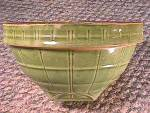 Mccoy Green Glaze Bowl, Windowpane