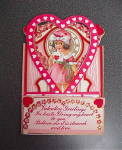 Vintage Fold Out Valentine Card