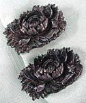 Black Plastic Shoe Clips