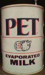Pet Evaporated Milk Can Novelty Radio