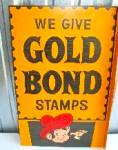 Gold Bond Stamps Tin Litho Flange Sign