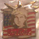 Coca Cola Statue Of Liberty 100th Anniv. Pin