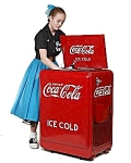 1930's Coca Cola Vending Machine Refrigerated