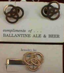 Ballantine Beer Cuff Link & Tie Bar Set