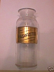 Drug Store Glass Label Bottle P. Asafoetid.