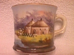 Victorian Era Decorative Scenic Shaving Mug
