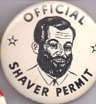 Generic Shaving Permit Pinback