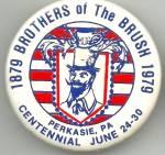 Perkasie, Pa Brothers Of The Brush Pinback