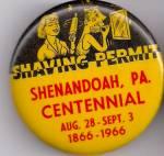 Shenandoah, Pa Brothers Of The Brush Pinback