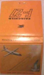 Fairchild Airplane F-27 Matchbook Mint