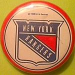 1969 Nhl Ny Rangers Souvenir Button