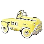 1940's Classic Sad Face Taxi Pedal Car