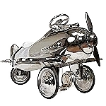 1940's Limited Edition Chrome Pedal Car Plane