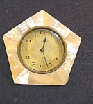 Vintage Mother Of Pearl Desk Clock.