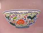 Large Chinese Embroidered Picture, Bowl.