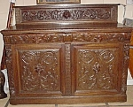 Carved Oak Victorian Sideboard, Mask Heads.