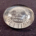 Glass Paperweight, Edwardian Period, Advert.