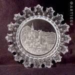 Glass Plate, Etched Neuschwanstein Castle.