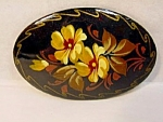 Handpainted Folk Art Style Brooch.