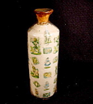 Victorian Novelty Salt Bottle With Scraps.
