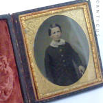 Victorian Ambrotype Of Young Boy.