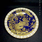 Royal Crown Derby Cobalt Blue And Gold Cabinet Plate.