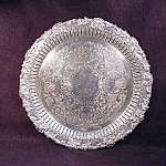 Large Round Silver Plate Tray.