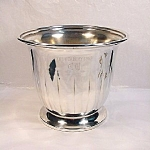 Large Silver Plate Vase