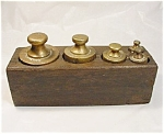 Set Of Victorian Brass Weights.