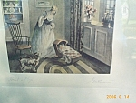 Gutmann Colonial Woman, Baby, Dog, Interior Colonial Print