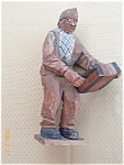 Folk Art Handcarved Male Black Americana