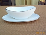 Noritake Colony China Gravy Boat W Underplate