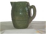 Yellowware Green Glaze Pitcher